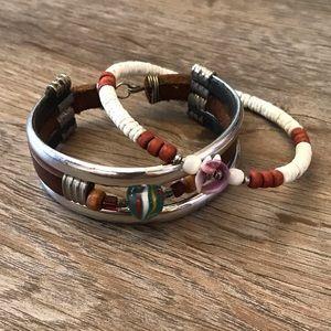 🌴Women's Vintage Bracelets Bahamas Leather Lot